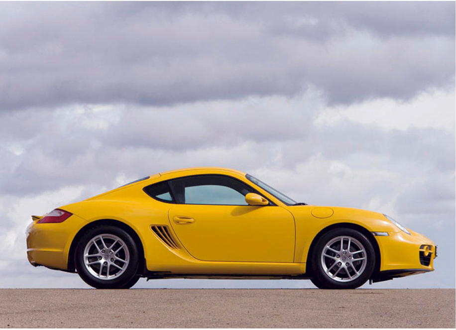 Mid-engined Porsche Cayman was better balanced on the road than a 911 (Veloce Books)