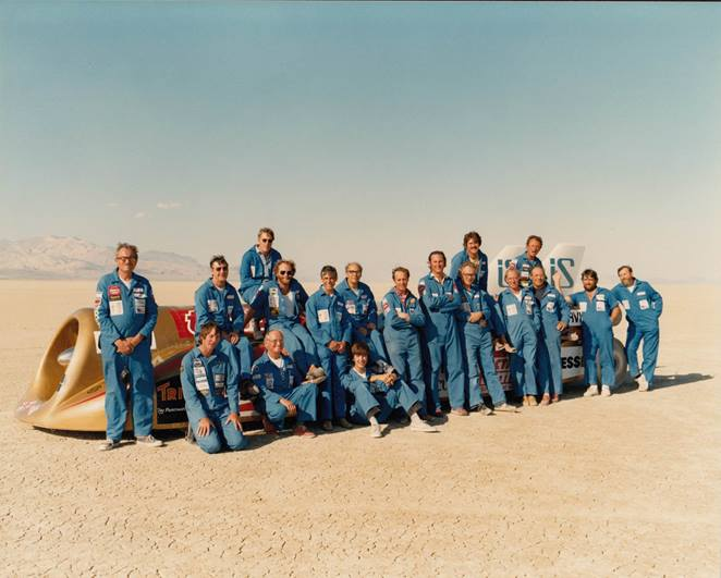 The team stand proud alongside Thrust2