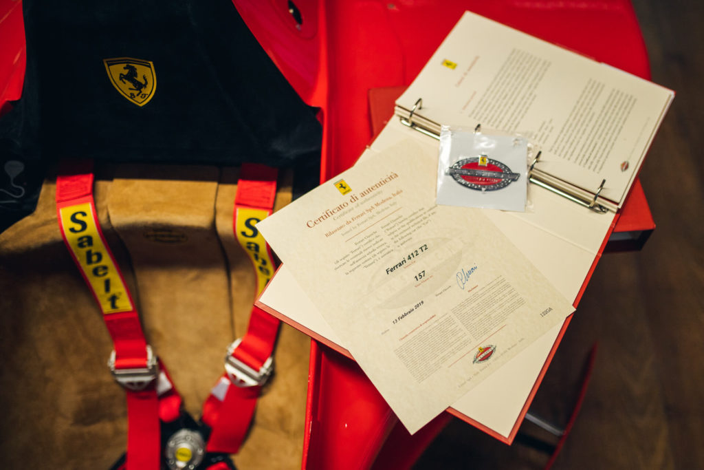 Original literature for the 1995 Ferrari 412 T2 F1 car