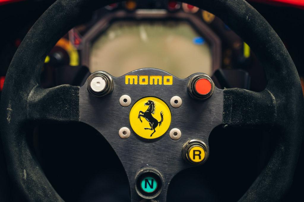 Momo steering wheel of the Ferrari 412 T2 F1 car