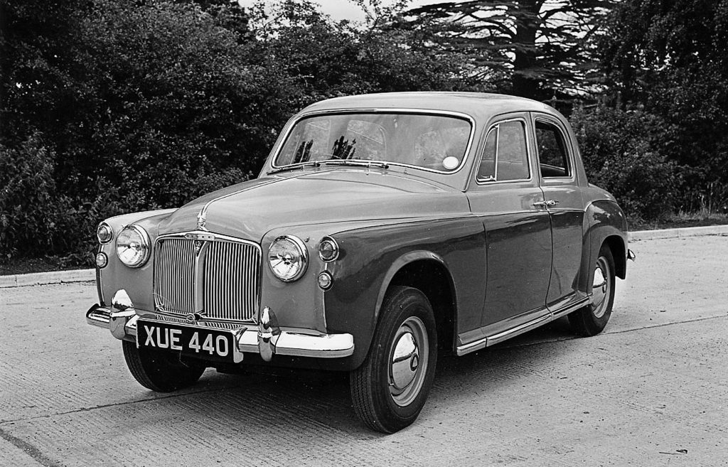 The design of the Rover P4 evolved to do away with the central 'Cyclops' light