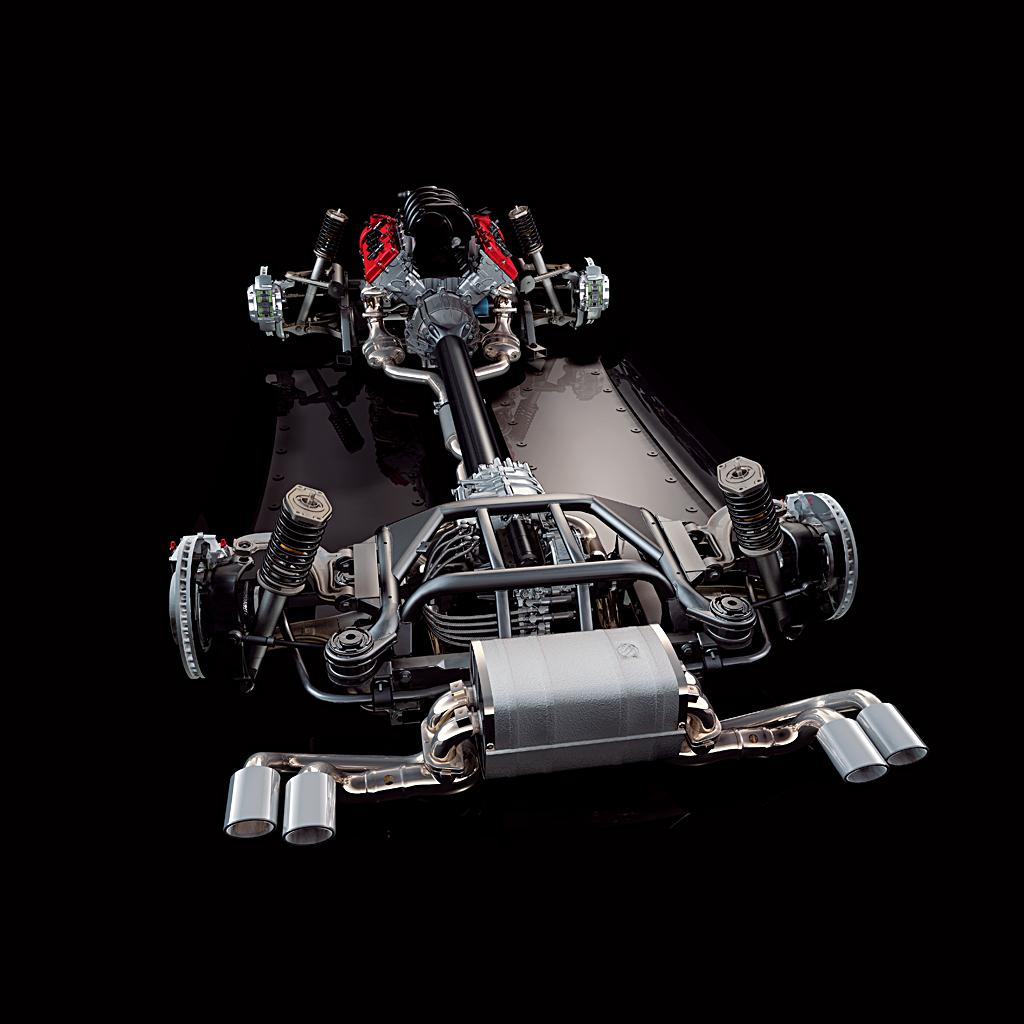 Alfa Romeo 8C Competizione drivetrain
