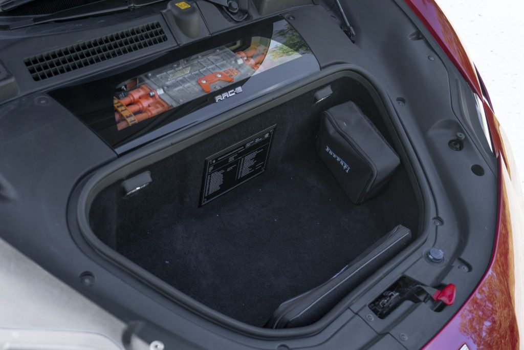Ferrari SF90 boot space is tiny to say the least_Hagerty review