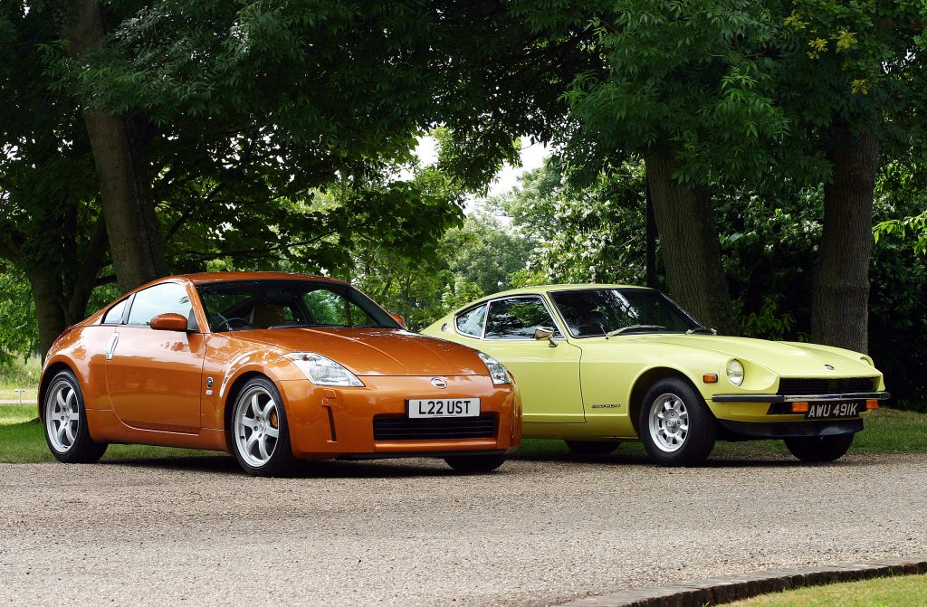 The Nissan 350Z and Datsun 240Z together_a history of the Z car_Hagerty