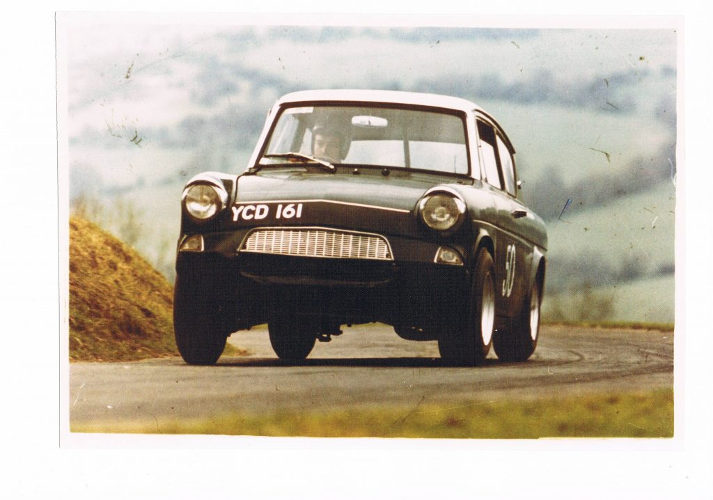 Dave Parr in his Ford Anglia hillclimb car_Hagerty