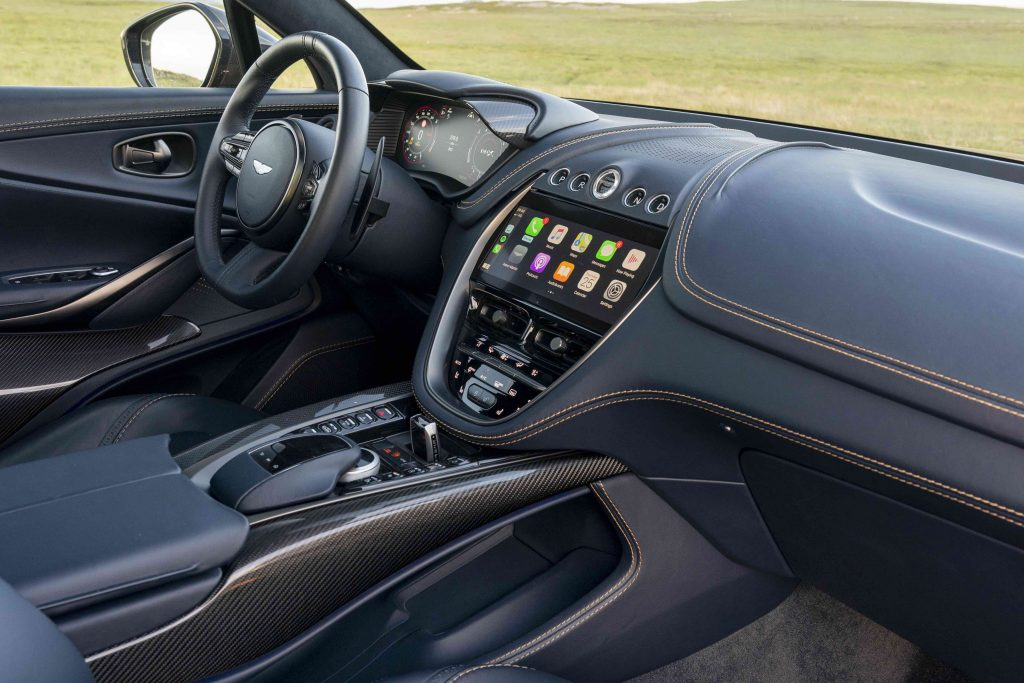Interior of the 2021 Aston Martin DBX