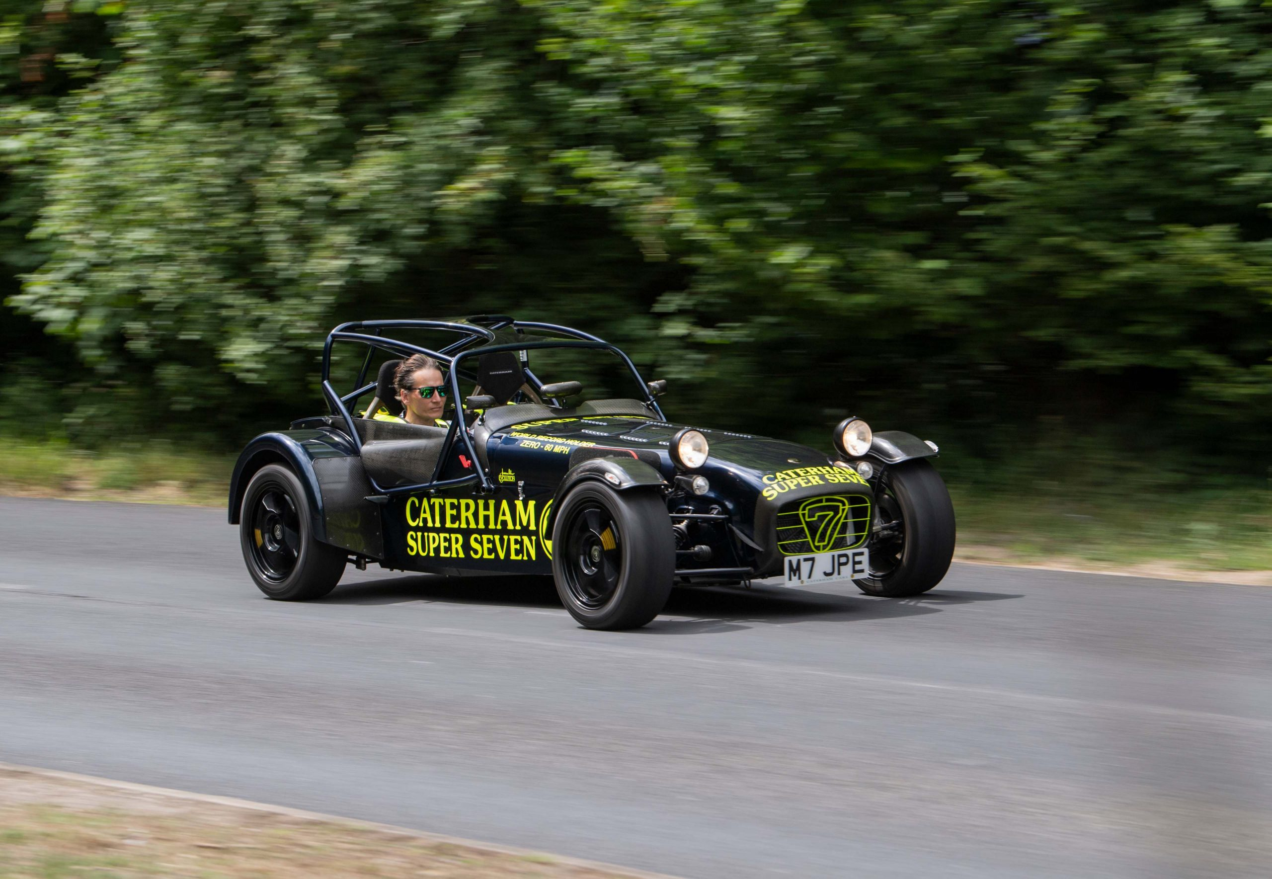 Record breaker! Driving the Caterham 7 JPE is a very fast blast from the past