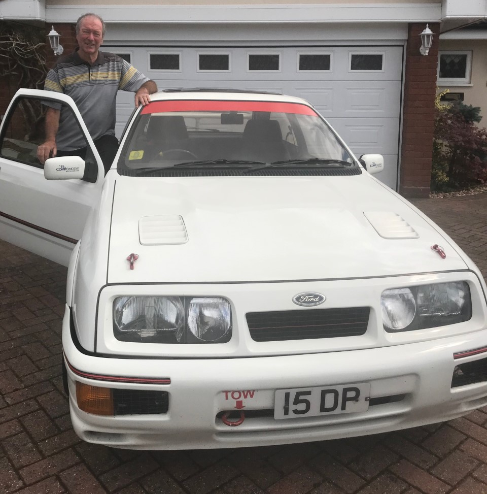 Dave Parr and the Ford Sierra Cosworth he has owned from new_Hagerty
