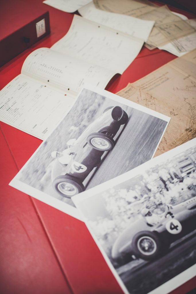 The records held by Ferrari Classiche include contemporary photos of cars in competition_Hagerty
