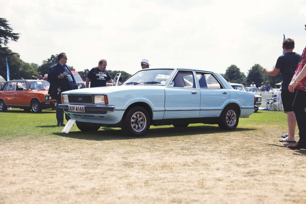 Ford Cortina on display at the Concours de l'Ordinaire