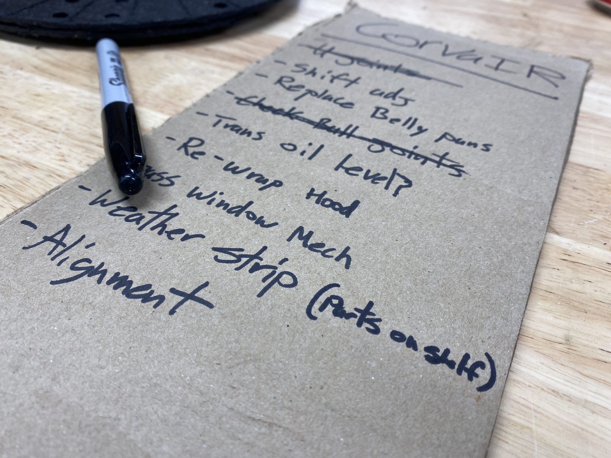 Write a to-do list for your project car, even if it's a bit depressing