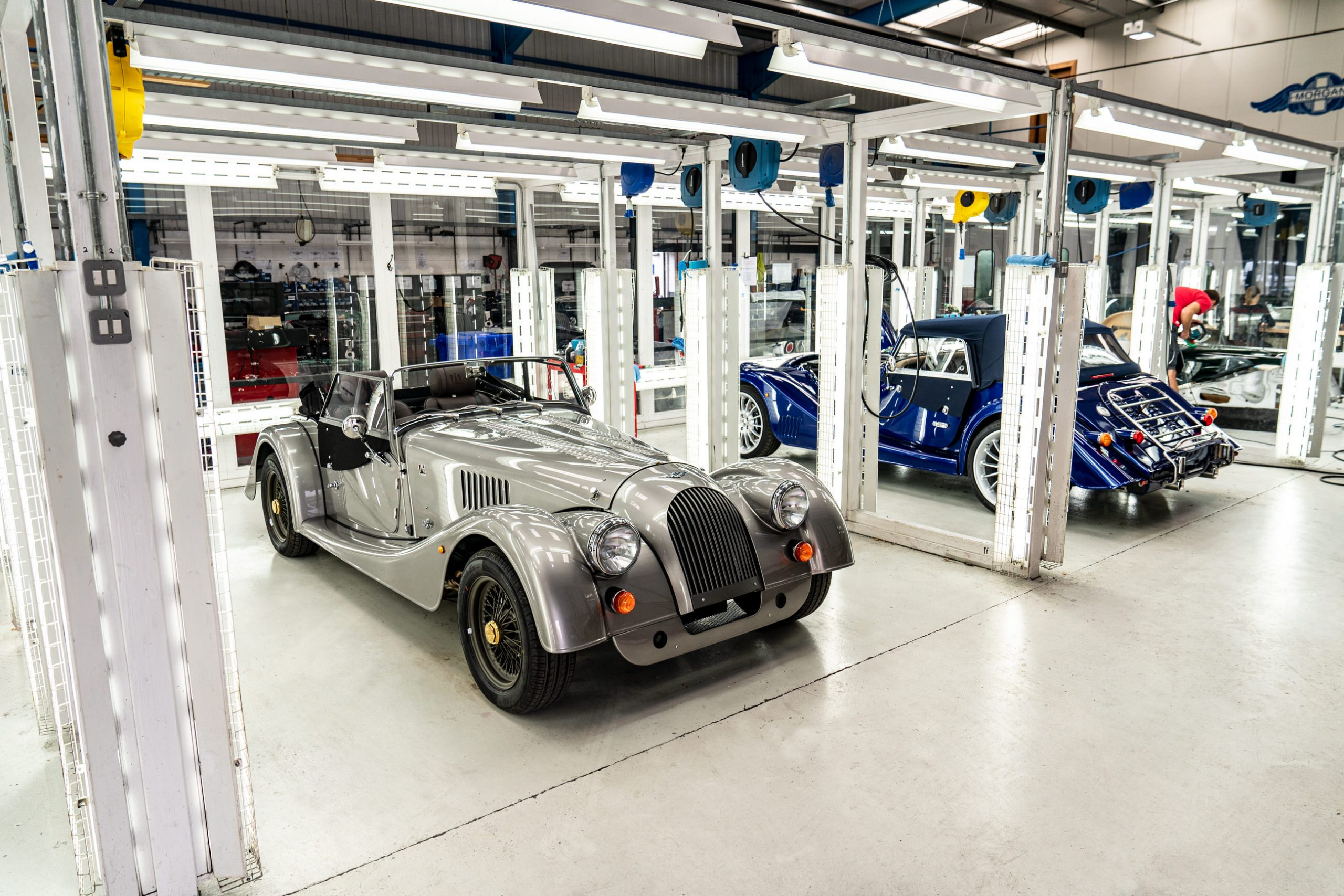 The last steel-chassis Morgan leaves the factory