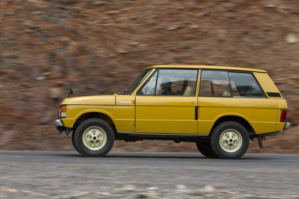 Classic profile of the 1970 two-door Range Rover_Hagerty