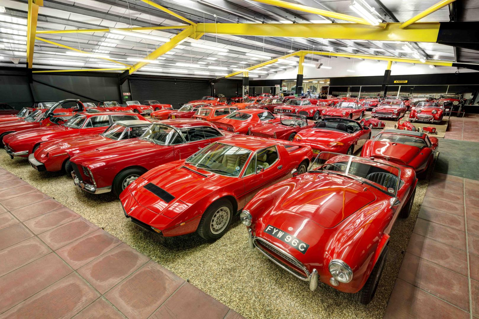 Take a tour of the Red Room, the crimson jewel of the Haynes Motor Museum