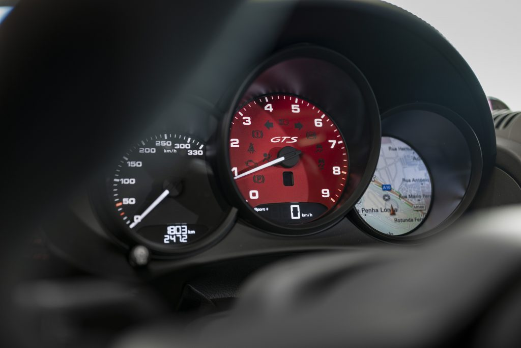 Porsche Cayman 718 GTS rev counter_review by Andrew Frankel_Hagerty