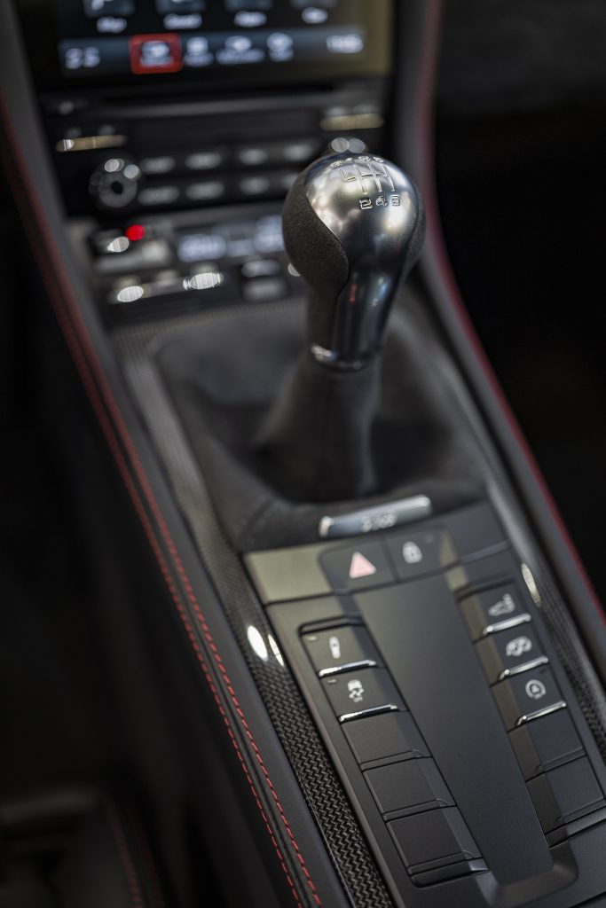 Porsche Cayman 718 GTS gearstick_review by Andrew Frankel_Hagerty
