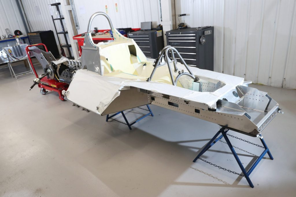 The epic challenge of building a continuation Tyrell P34 six-wheel F1 car_bare aluminium chassis