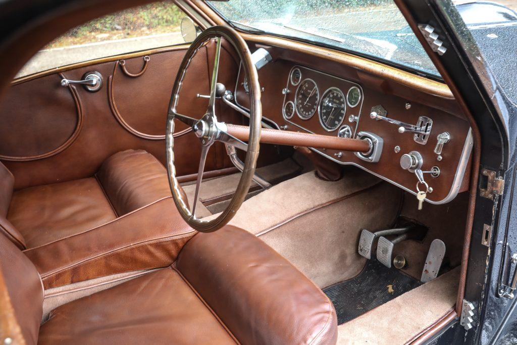 1937 Bugatti Type 57S Atalante interior