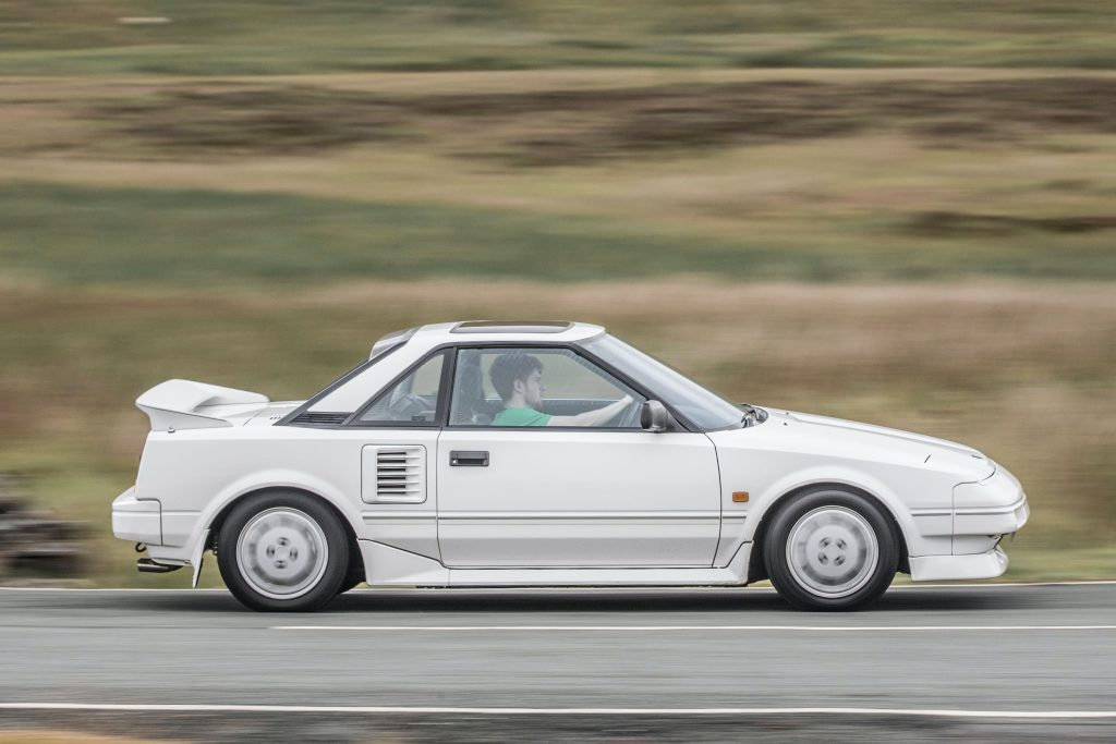 Side view of the original Toyota MR2 which is reinterpreted by Chip Foose_Hagerty