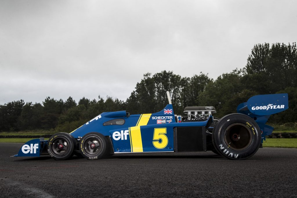 The epic challenge of building a continuation Tyrell P34 six-wheel F1 car_side view of car