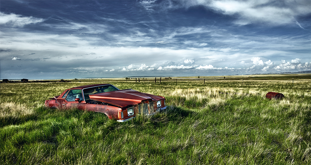 1974 Pontiac Grand Prix, Wyoming, USA. Photo © 2019 Dieter Klein. All rights reserved.