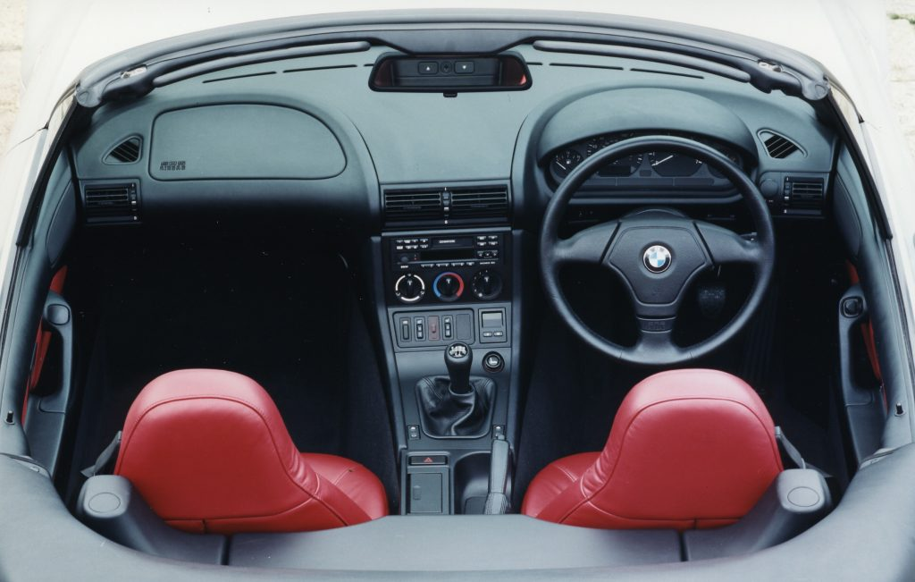 BMW Z3 roadster interior