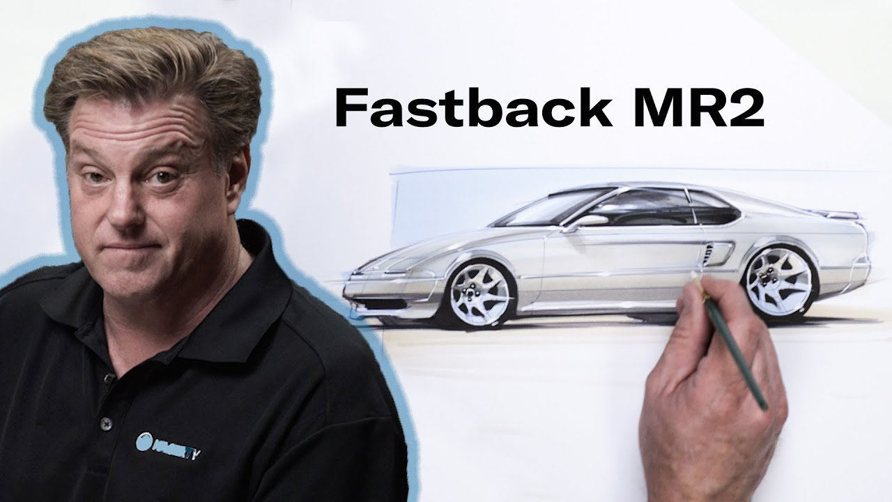 Creating a fastback Toyota MR2 | Chip Foose Draws a Car