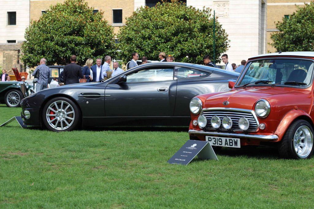 Ian Callum's 2004 Aston Martin Vanquish S and 1995 Mini Cooper_London Concours 2020