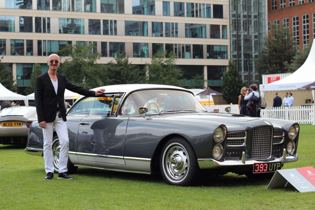 Tom Reah with his 1961 Facel Vega HK500_London Concours 2020_Hagerty