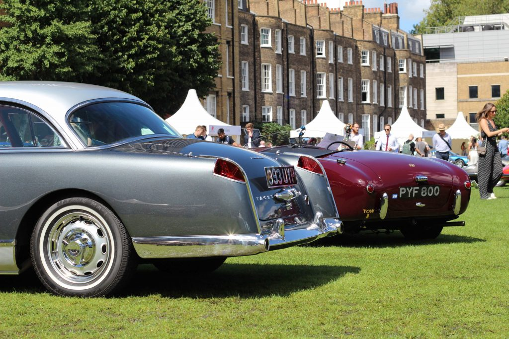 1961 Facel Vega HK500 and a 1956 AC Ace, contenders in the 'Lost Marques' class_London Concours 2020_Hagerty