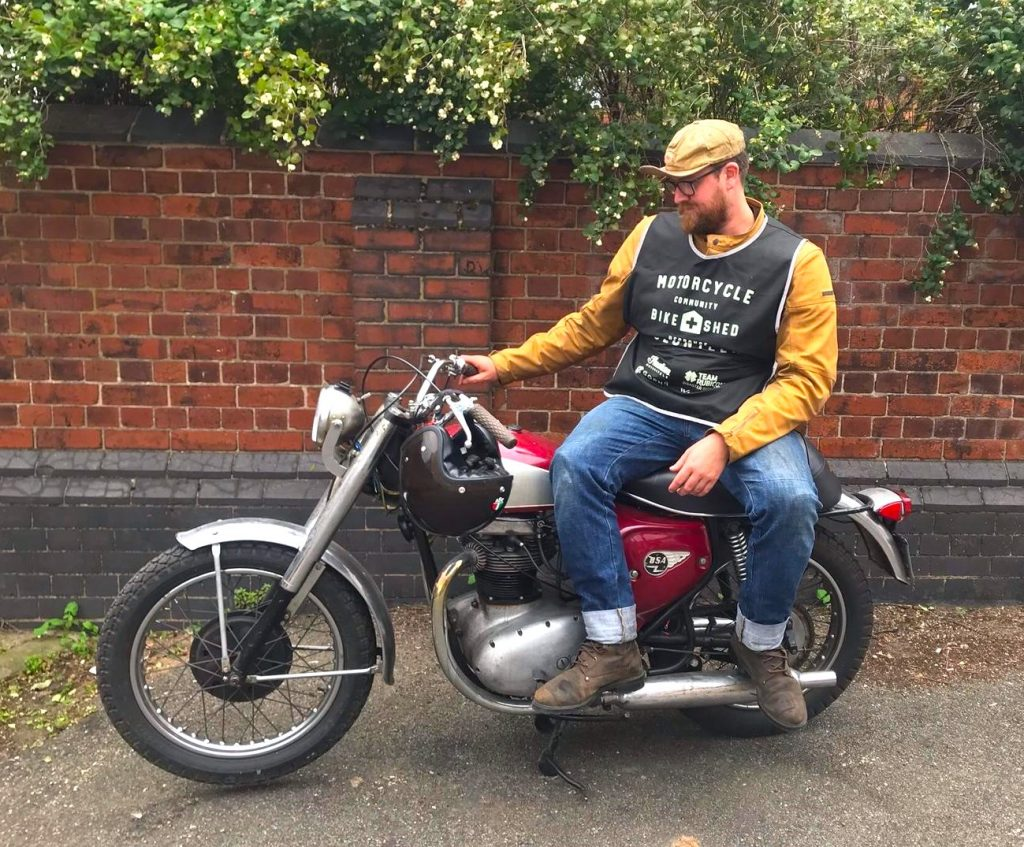 Watch out for low-flying spark plugs: Tom Pithie's BSA likes to throw the occasional tantrum