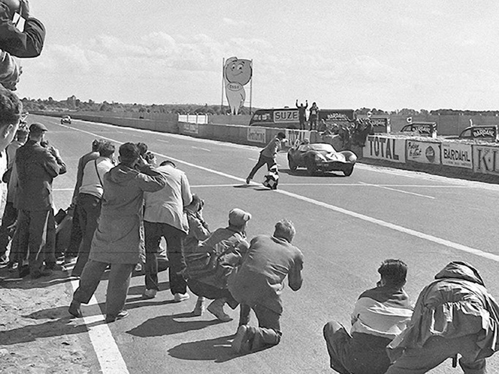 Jaguar D-Type wins the 1955 Le Mans