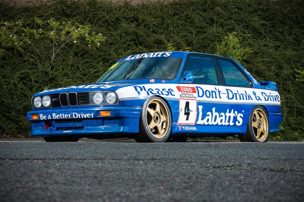 A 1991 BMW E30 M3 raced by Tim Harvey