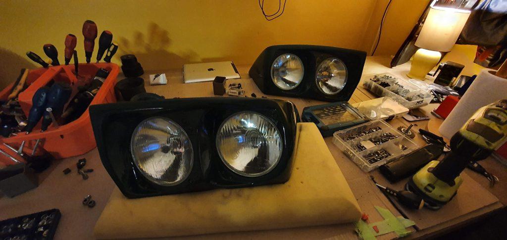 Lotus Elan M100 headlamp repairs