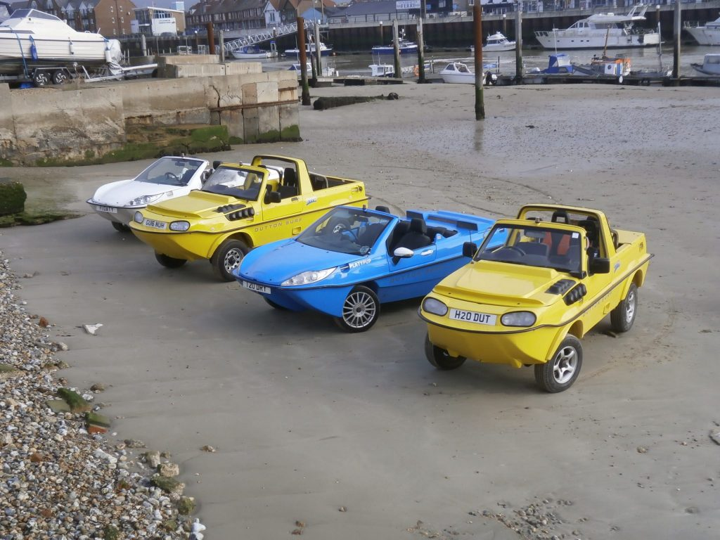 Dutton started making amphibious cars in 1989