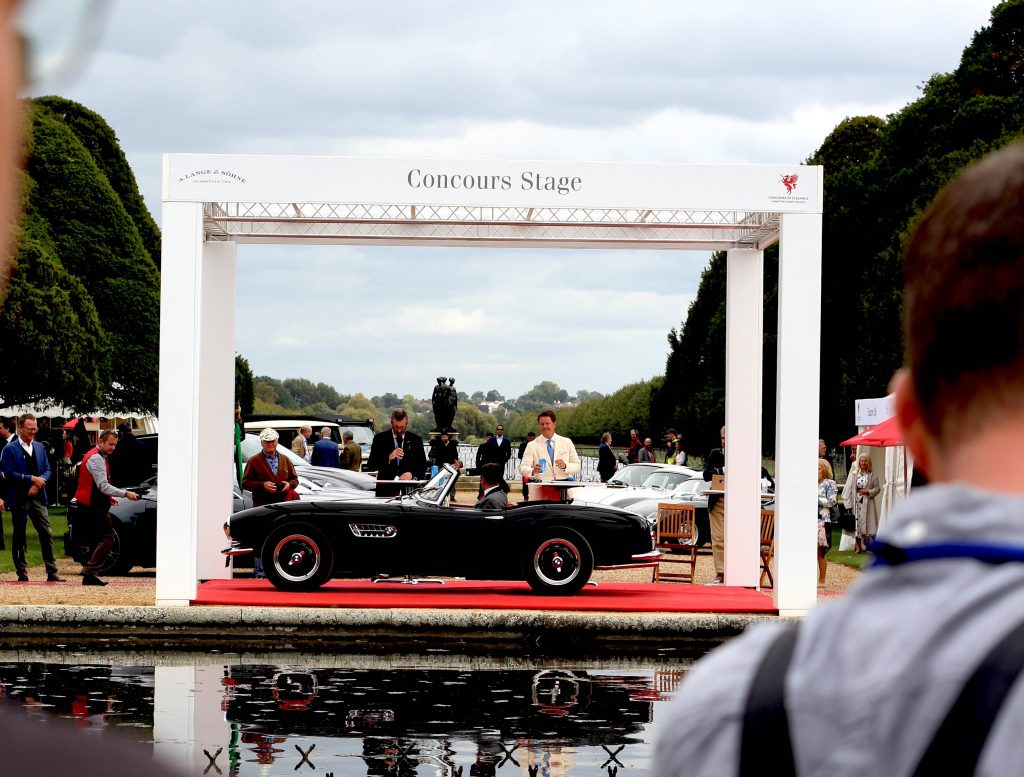 BMW 507 on the stage at the 2020 Hampton Court Concours of Elegance