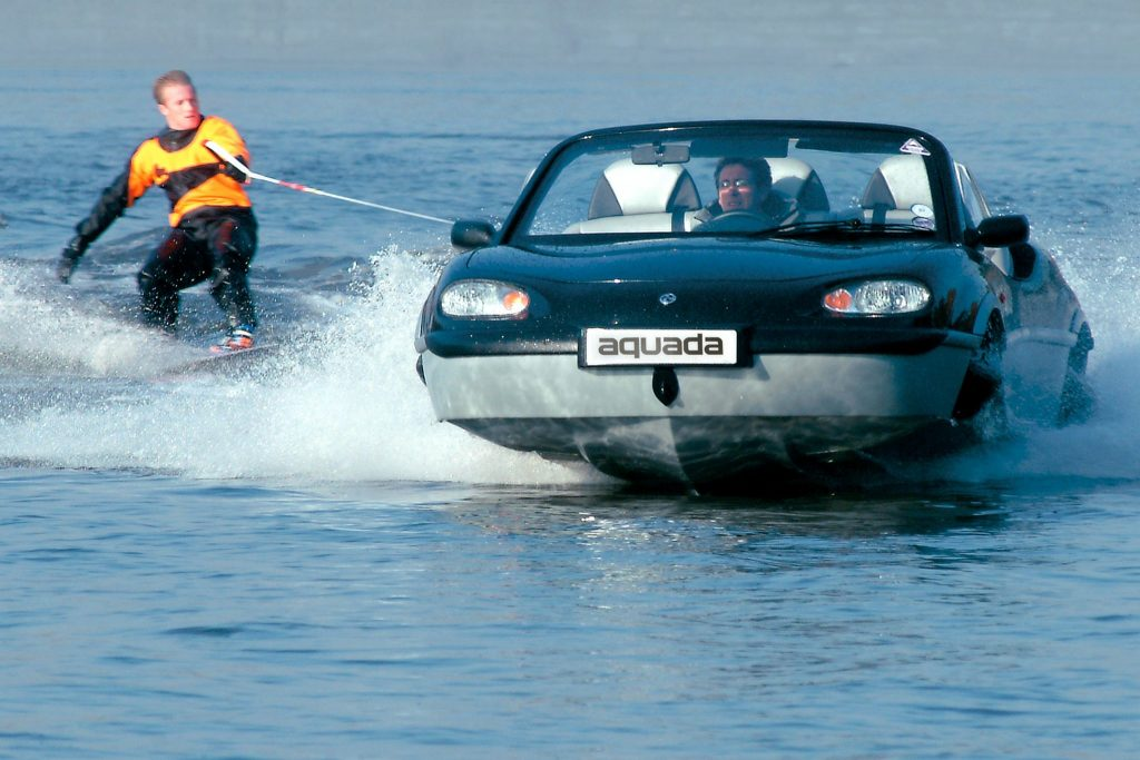 The Gibbs Aquada can reach 30mph on water