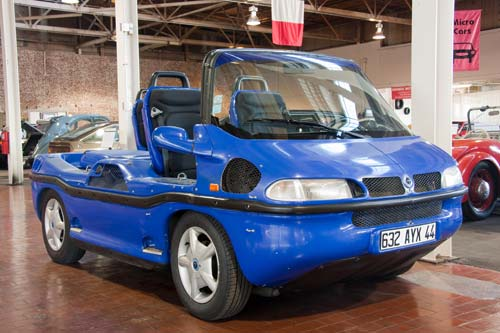 The Hobbycar amphibious car went on sale in 1992