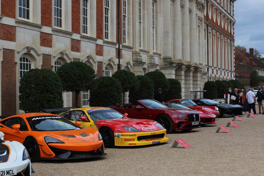Racing cars and hypercars mingle side by side at the 2020 Hampton Court Concours of Elegance