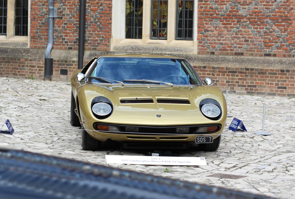 Lamborghini Miura SV sold at Hampton Court's Gooding & Co auction