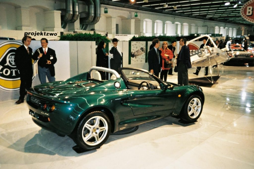 Lotus Elise was launched at the Frankfurt Motor Show