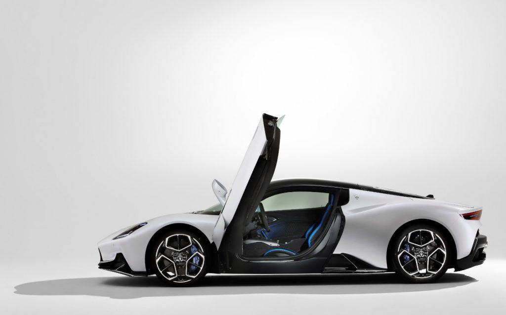 New Maserati MC20 supercar doors open