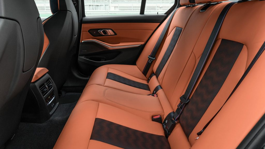 New 2021 BMW M3 Competition back seats