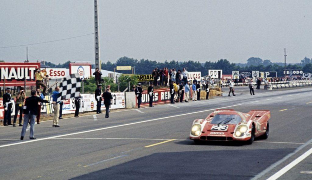 Porsche 917 wins the 1970 Le Mans