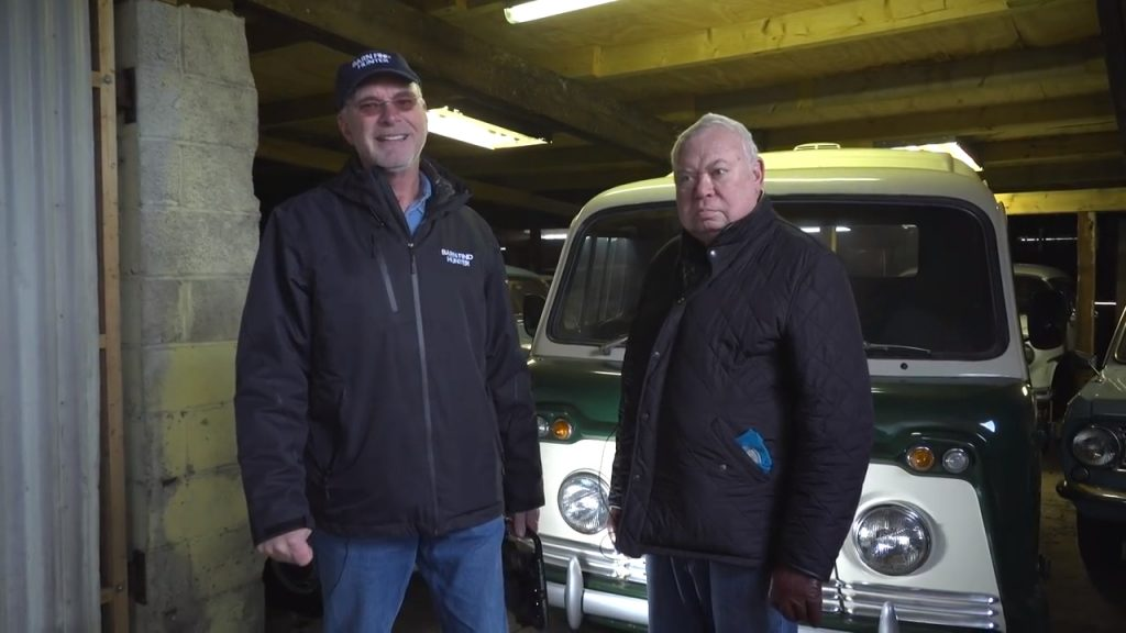 Tom Cotter and Vernon with 170 classic cars