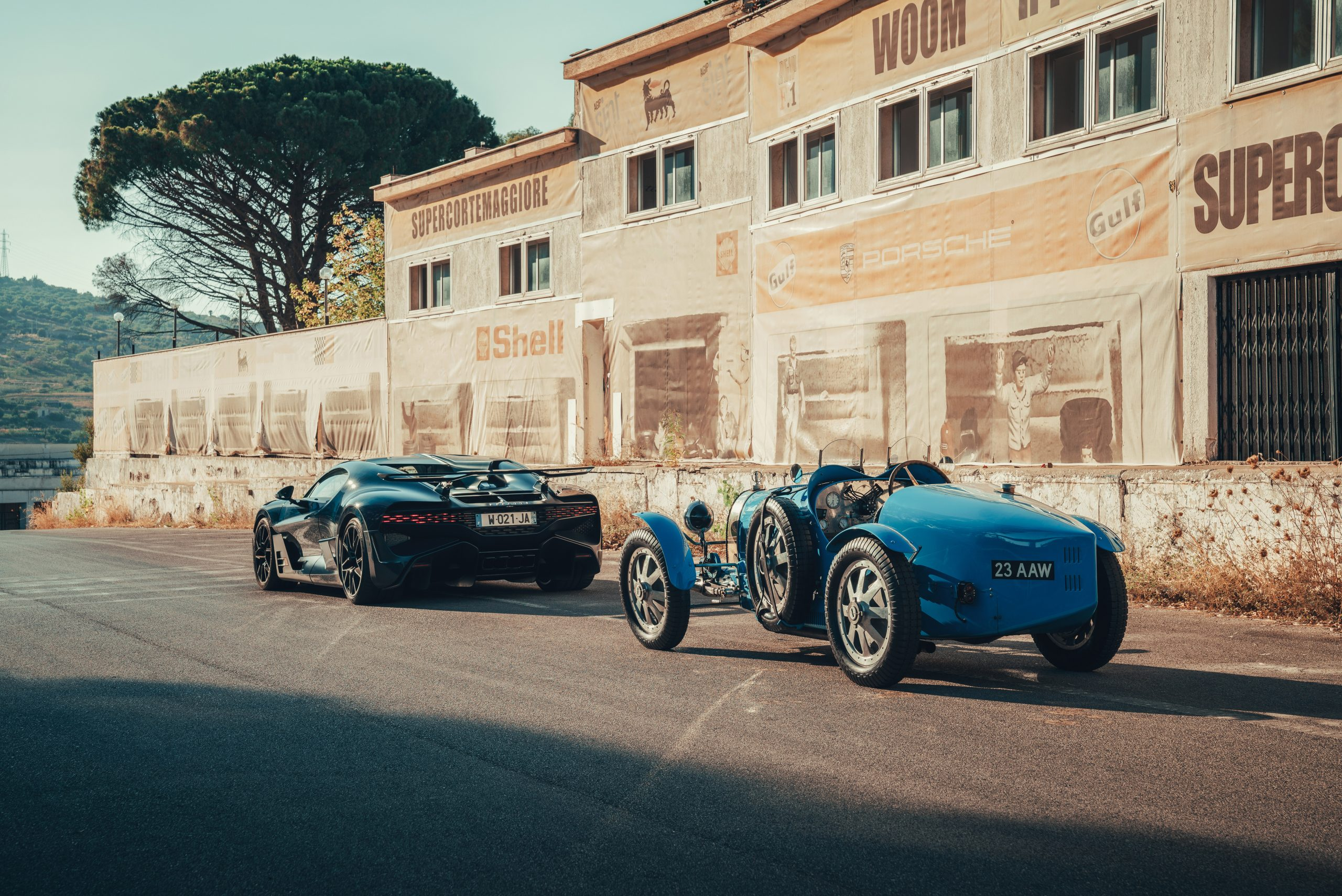 The Bugatti Divo and Type 35 hit the historic Targa Florio route together