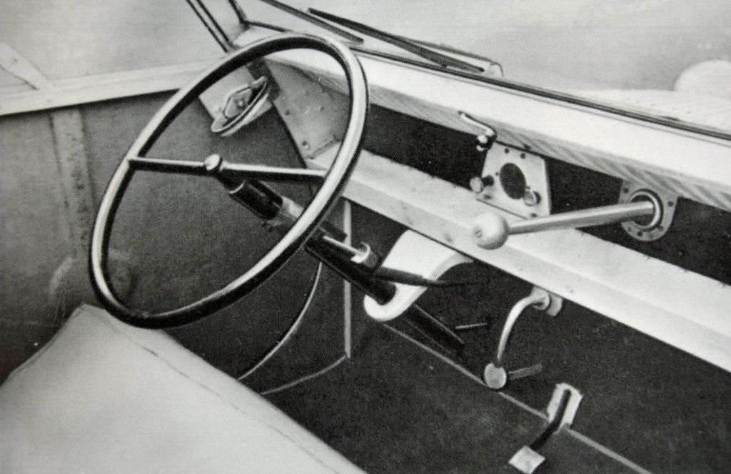 1939 Citroen 2CV dashboard and steering wheel