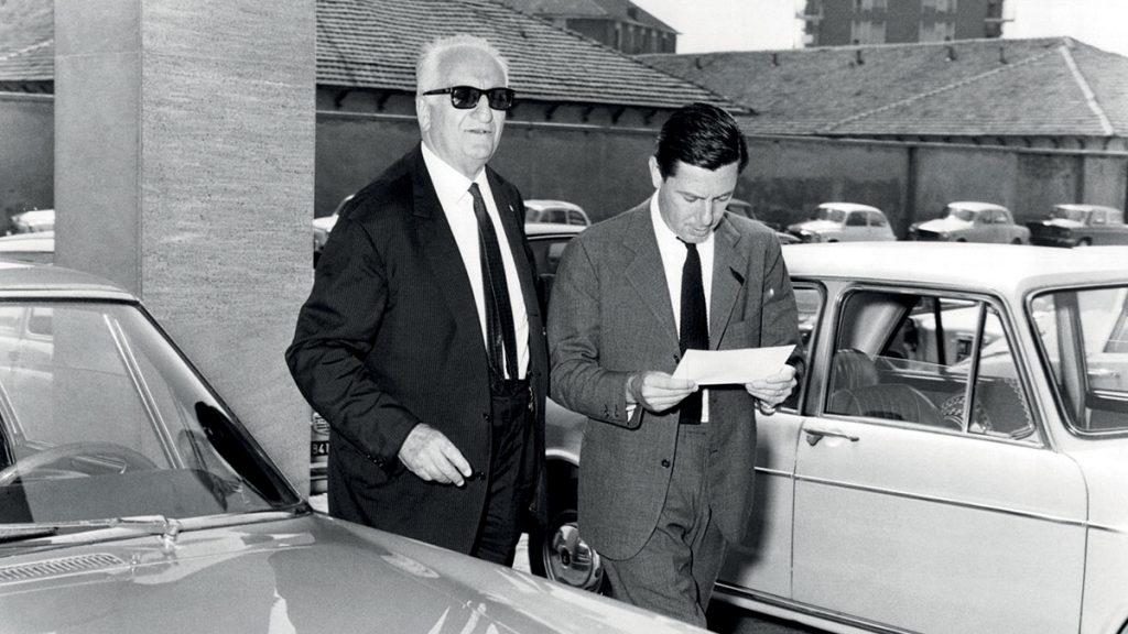 Sergo Pininfarina and Enzo Ferrari in 1966