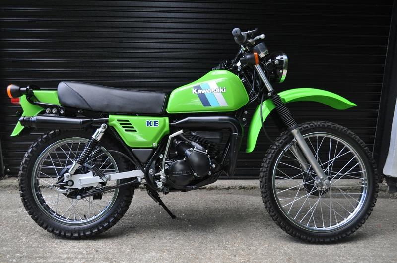 Seven collectible motorcycles_Kawasaki KE125