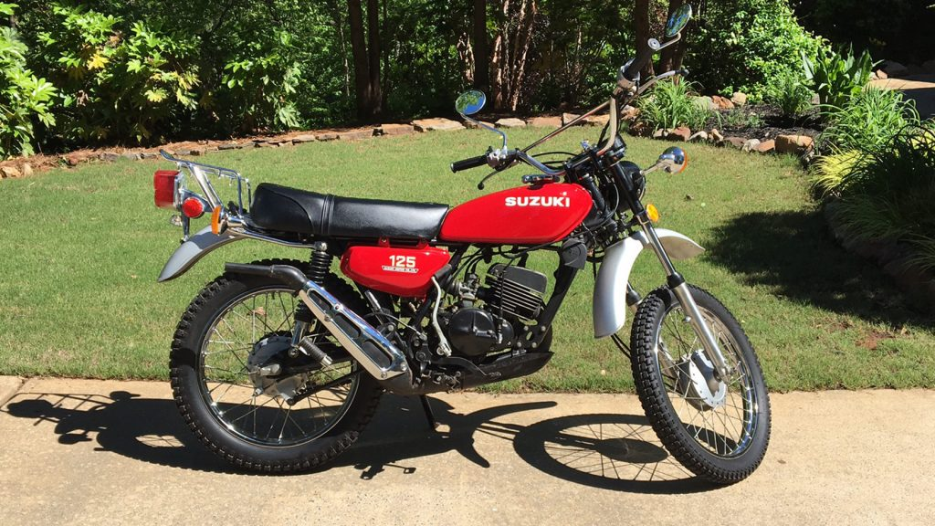 Suzuki TS125 is a classic trail bike that's collectible